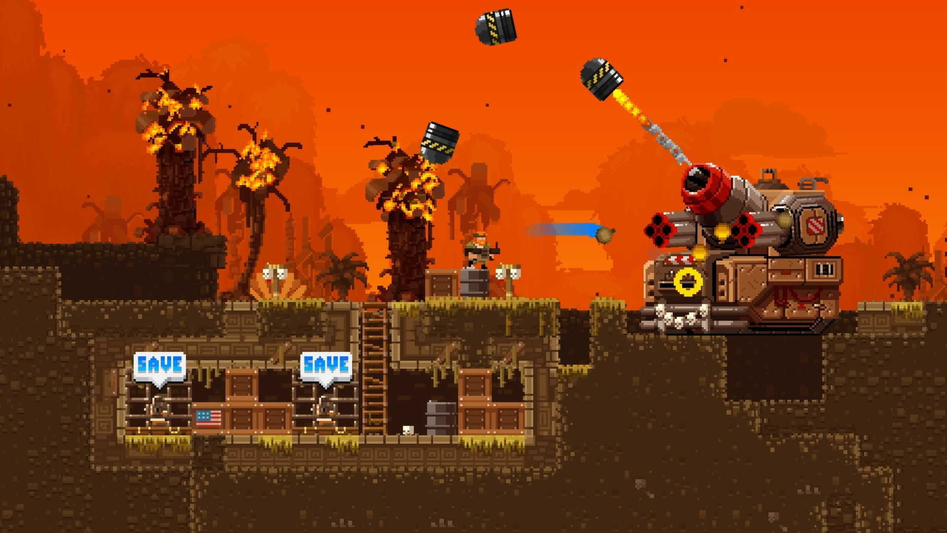 2D, Action, adventure, Broforce, Broforce Review, Devolver Digital, Free Lives, Nintendo Switch, Nintendo Switch Review, Platformer, Rating 9/10, Sidescroller, Switch Review