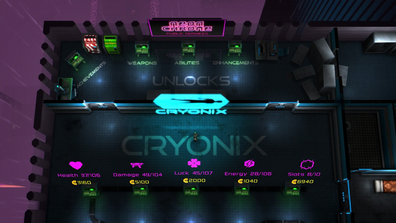 Neon Chrome Review Screenshot 2