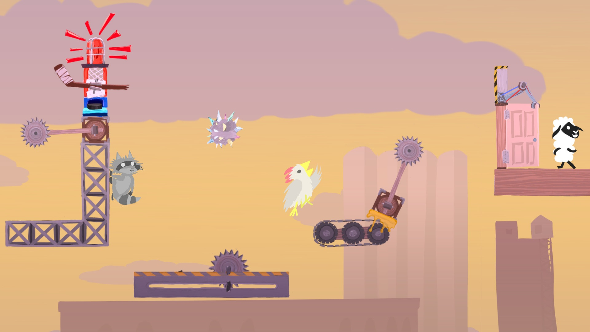 2D, Action, adventure, casual, Clever Endeavour Games, indie, Platformer, PS4, PS4 Review, Rating 5/10, Ultimate Chicken Horse, Ultimate Chicken Horse Review