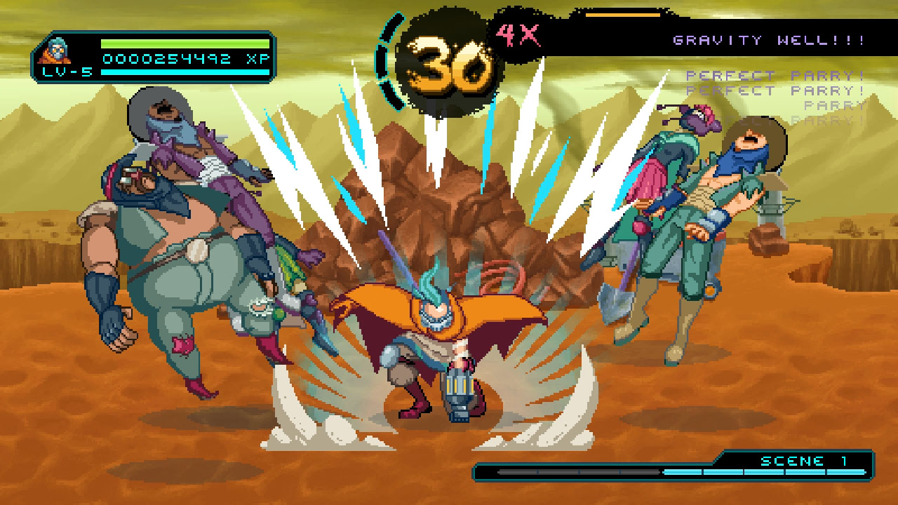 2D, Action, Beat-'Em-Up, Household Games, indie, Pixel Graphics, PS4, PS4 Review, Way of the Passive Fist, Way of the Passive Fist Review