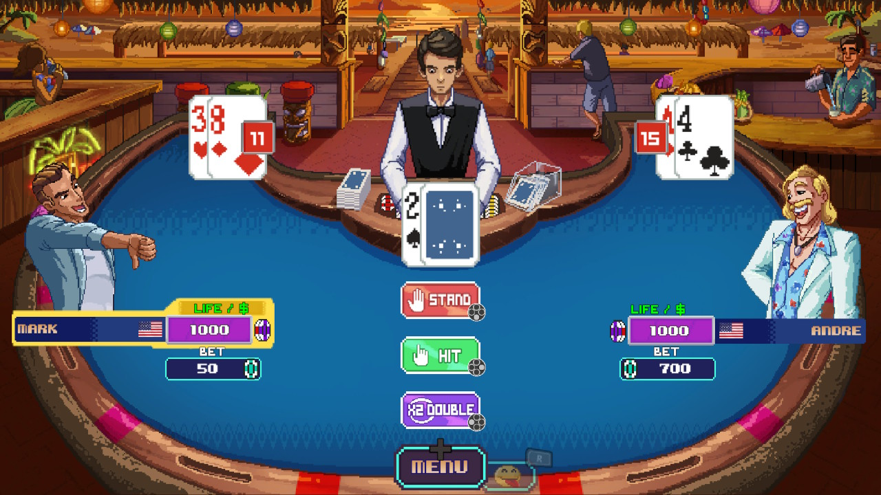 arcade, board game, Card Game, casual, Gambling, Headup Games, ID@Xbox, indie, party, Rating 5/10, Sports, Stage Clear Studios, Super Blackjack Battle 2 Turbo Edition, Xbox One, Xbox One Review