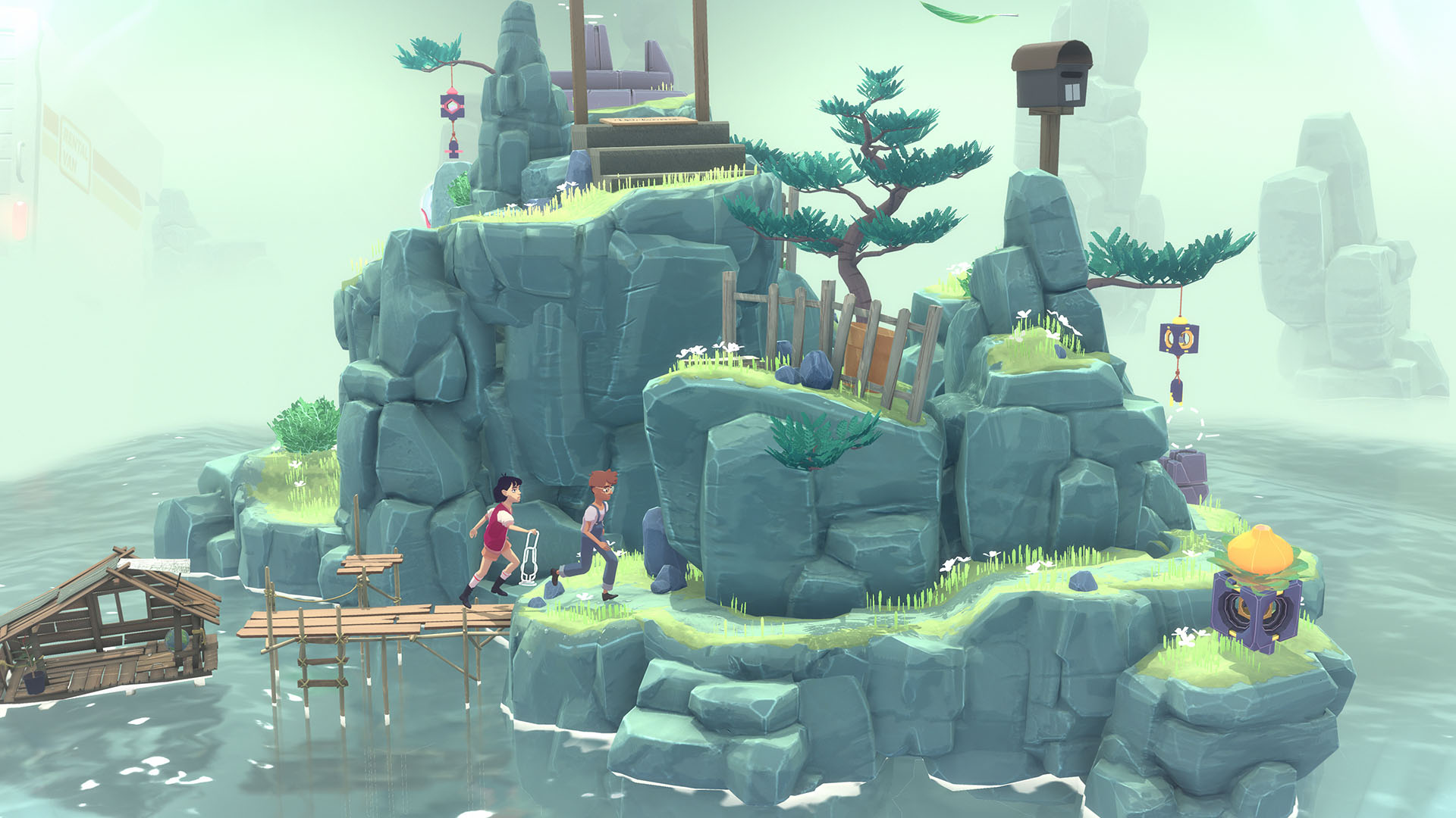 adventure, indie, Nintendo Switch Review, Puzzle, Rating 10/10, Relaxing, Surreal, Switch Review, The Gardens Between, The Gardens Between Review, The Voxel Agents