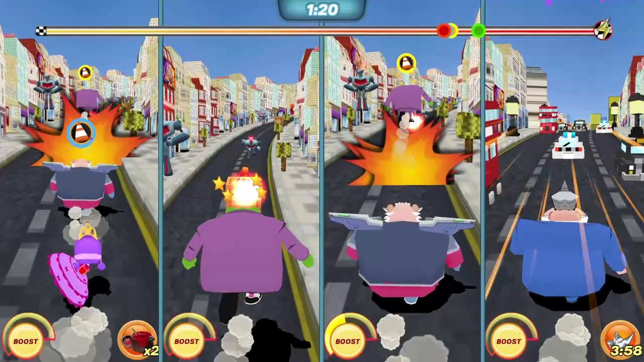9th Impact, Action, arcade, Danger Mouse, Danger Mouse: The Danger Games, Danger Mouse: The Danger Games Review, Driving, Freemantle Media, multiplayer, Nintendo Switch Review, party, Racing, Rating 7/10, Switch Review
