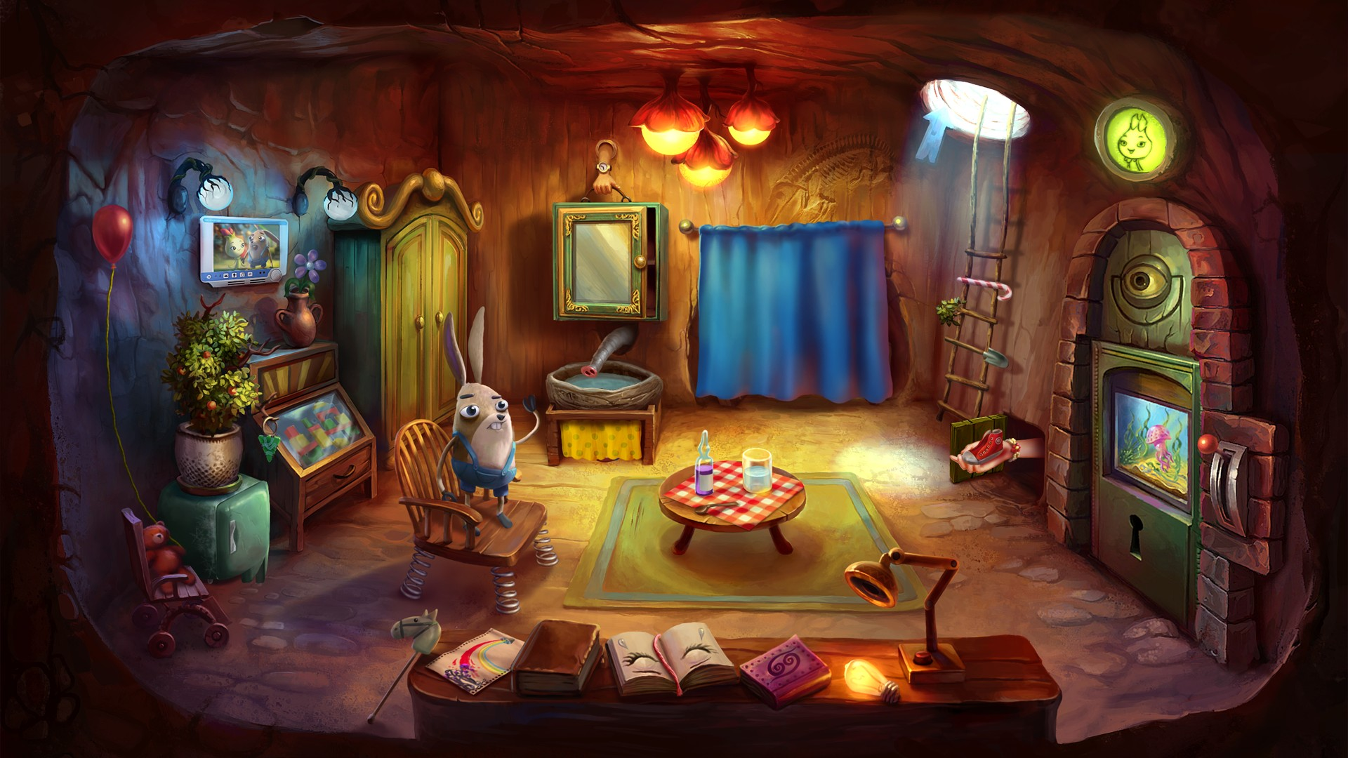 2D, adventure, Artifex Mundi, casual, Hidden Object, indie, My Brother Rabbit, My Brother Rabbit Review, PS4, PS4 Review, Puzzle, Raring 6/10