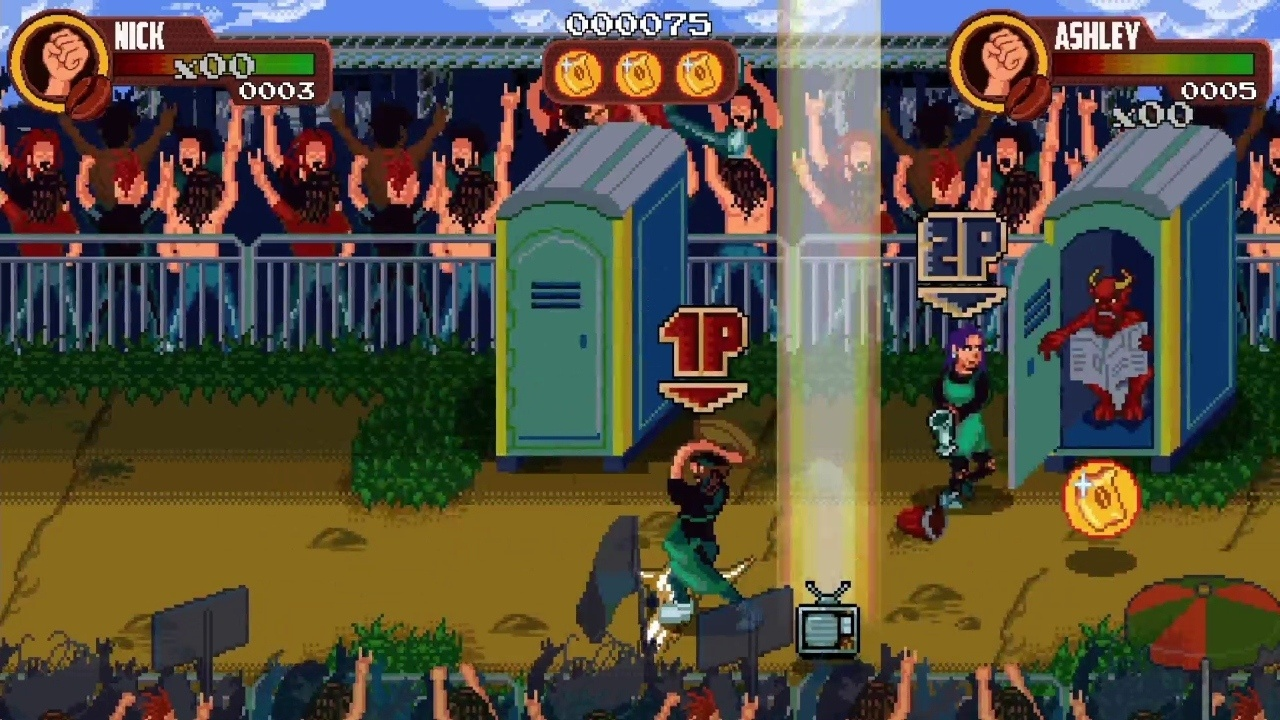 2D, Action, arcade, Beat-'Em-Up, Coffee Crisis, Coffee Crisis Review, Fighting, Mega Cat Studios, QubicGames, Rating 8/10, Xbox One, Xbox One Review