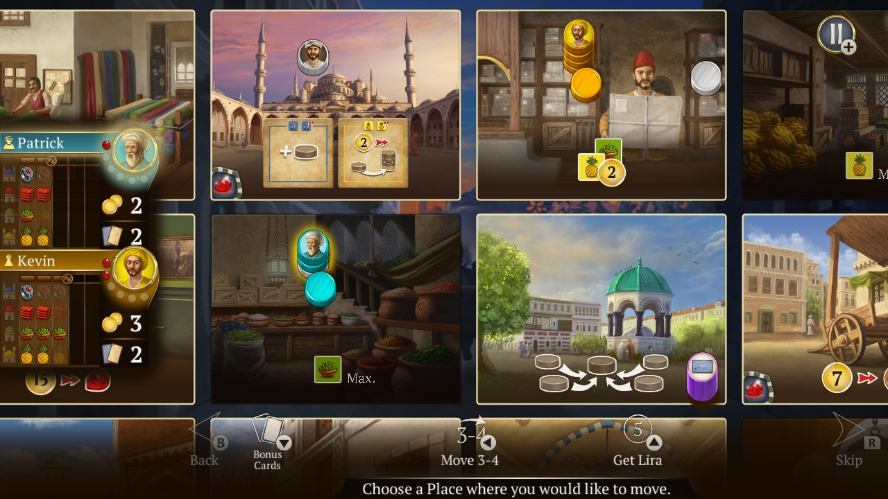2D, Acram Digital, board game, casual, indie, Istanbul: Digital Edition, Istanbul: Digital Edition Review, management, Mobo Studio, multiplayer, Nintendo Switch Review, party, Rating 5/10, strategy, Switch Review