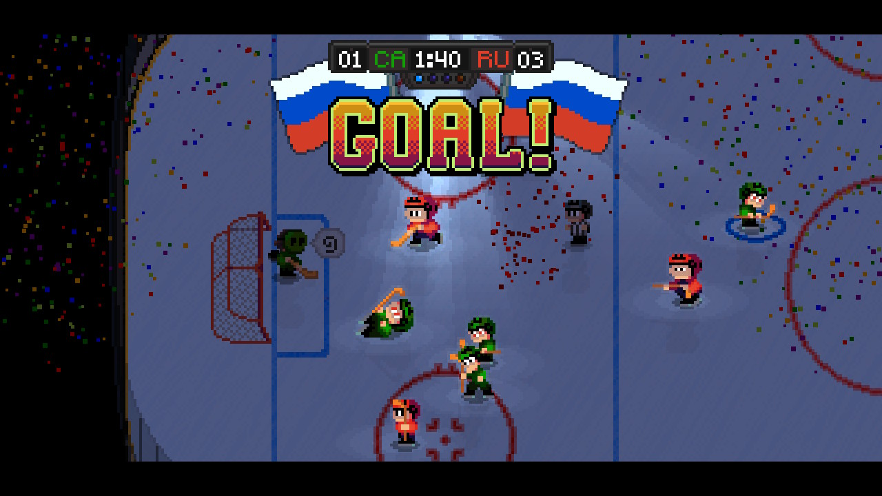 arcade, Digerati Distribution, Gore, Hockey, indie, Loren Lemcke, Nintendo Switch Review, nudity, Rating 8/10, Sports, Super Blood Hockey, Super Blood Hockey Review, Switch Review, Team-Based, Violent