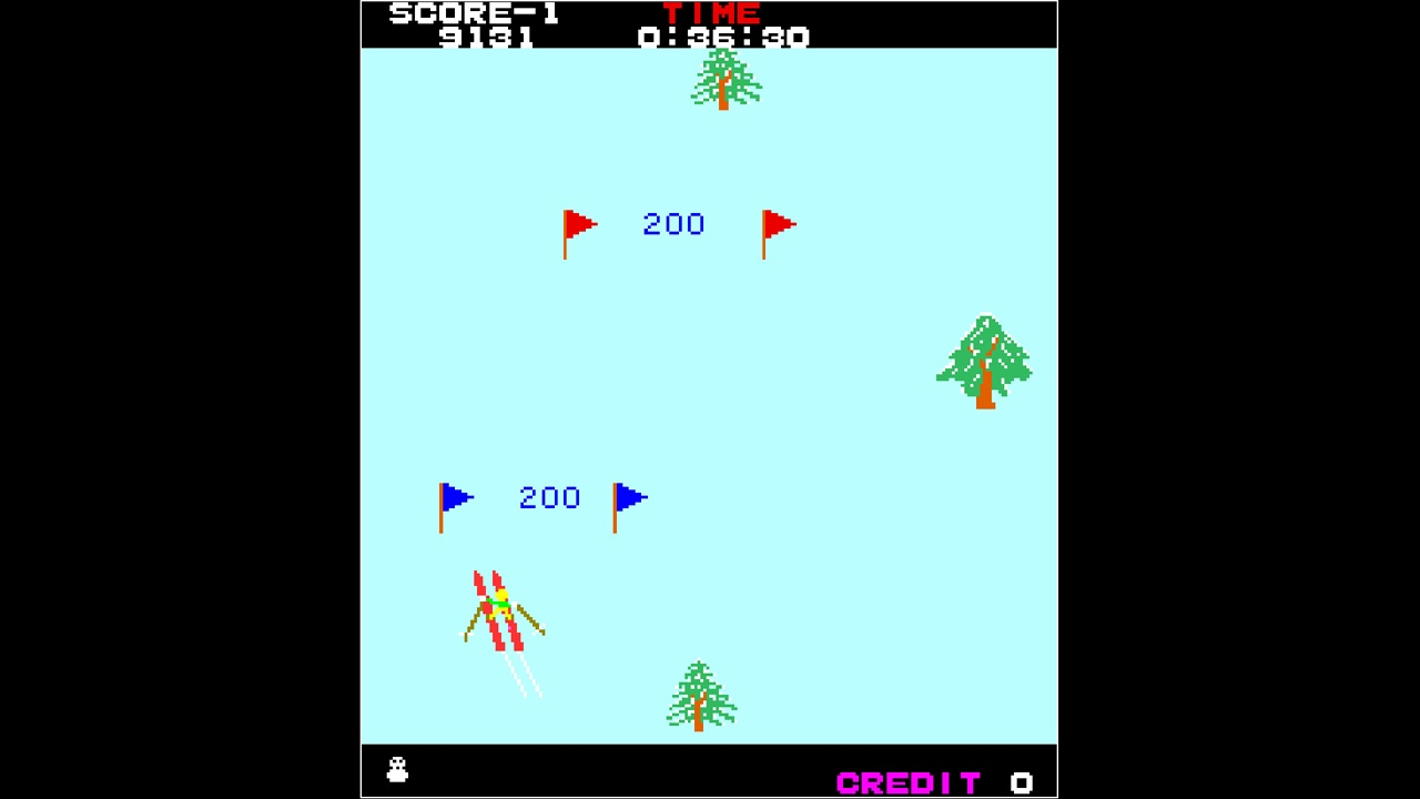 ALPINE SKI, arcade, Arcade Archives, Arcade Archives ALPINE SKI, Arcade Archives ALPINE SKI Review, Hamster Corporation, Nintendo Switch Review, Rating 5/10, Skiing, Snowboarding, Sports, Switch Review, Taito