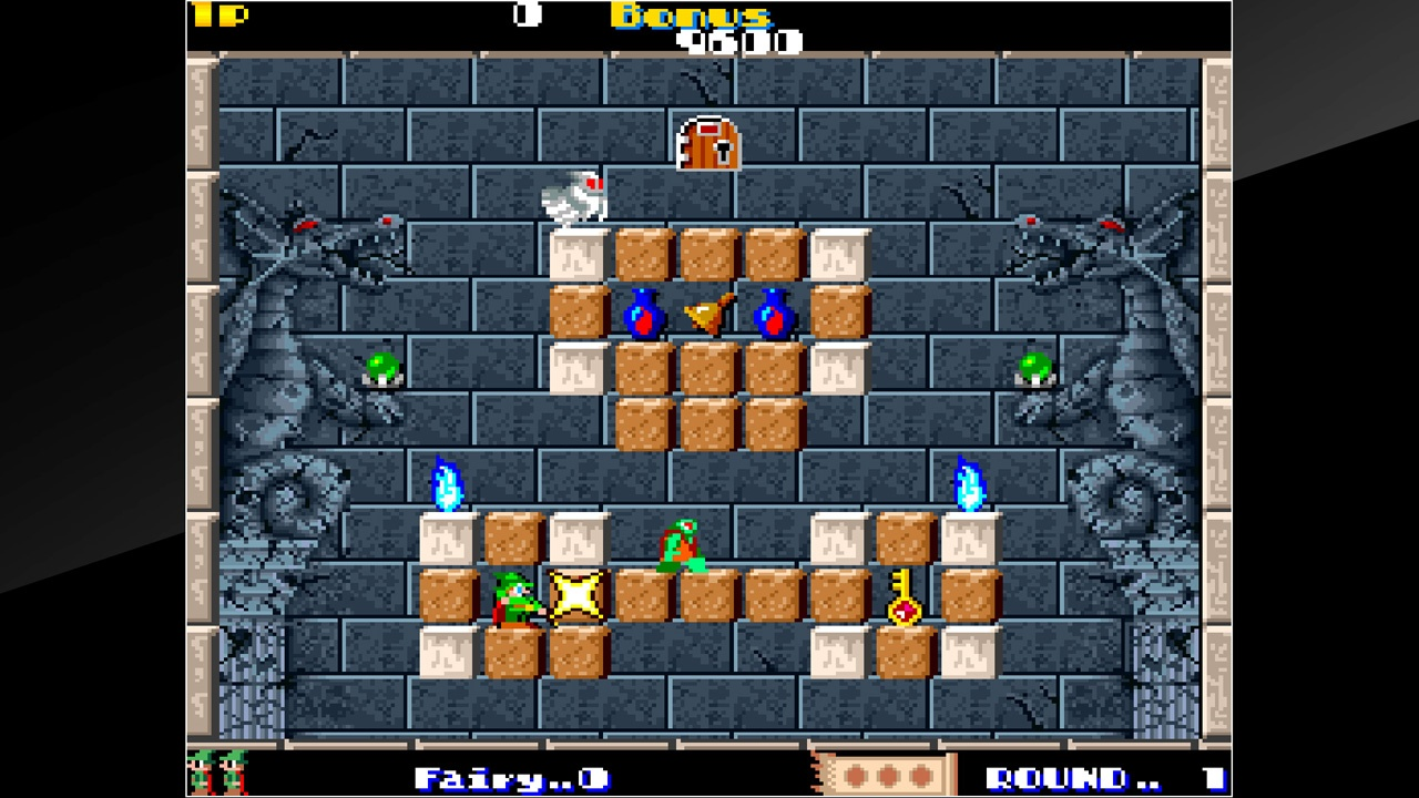 action, arcade, arcade archives, arcade archives solomons's key, hamster corporation, nintendo switch review, puzzle, solomon's key, switch review, tecmo,