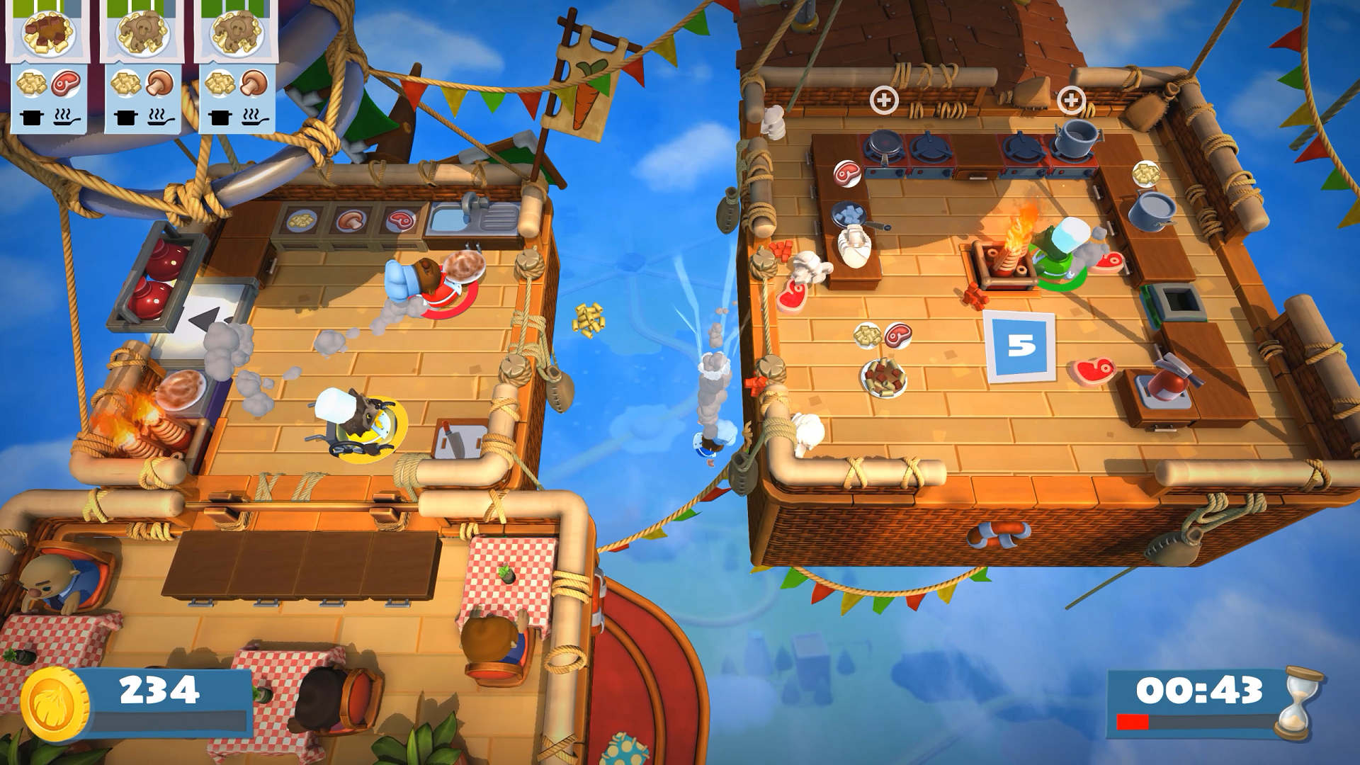 Action, arcade, casual, Family, Ghost Town Games, indie, Overcooked 2, Overcooked 2 Review, party, PS4, PS4 Review, Rating 8/10, Team17 Digital