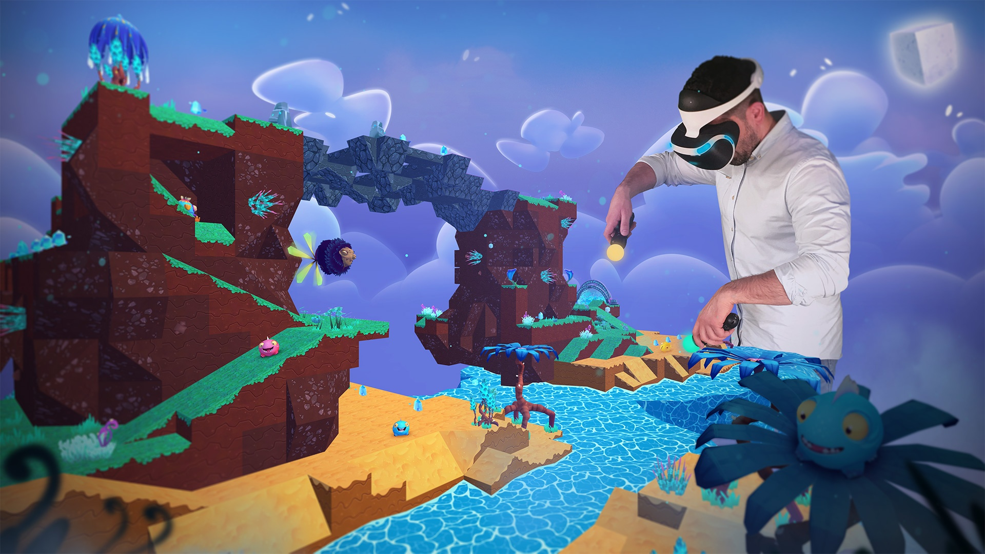 3D, Action, Brainseed Factory, Platformer, PlayStation VR, PS4, PS4 Review, PSVR, PSVR Review, Puzzle, Rating 6/10, Squishies, Squishies Review