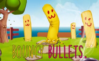3D, Action, arcade, Bouncy Bullets, Bouncy Bullets Review, first-person, Petite Games, Platformer, PS4, PS4 Review, Ratalaika Games, Rating 4/10, Shooter