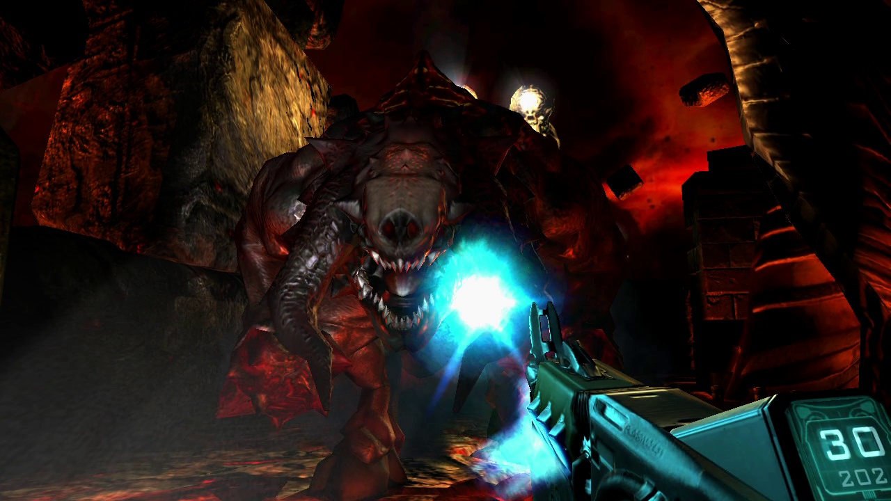 1990's, Action, arcade, Bethesda Softworks, Classic, dark, Doom, Doom 3, DOOM 3 Review, First Person Shooter, first-person, FPS, Horror, id Software, Nintendo Switch Review, Panic Button, Rating 8/10, retro, Sci-Fi, Shooter, Switch Review, ZeniMax Media