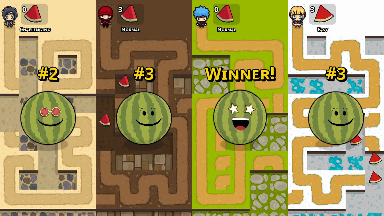 Action, Bigosaur, Minigame, multiplayer, Nintendo Switch Review, party, Puzzle, Rating 1/10, Switch Review, Watermelon Party, Watermelon Party Review