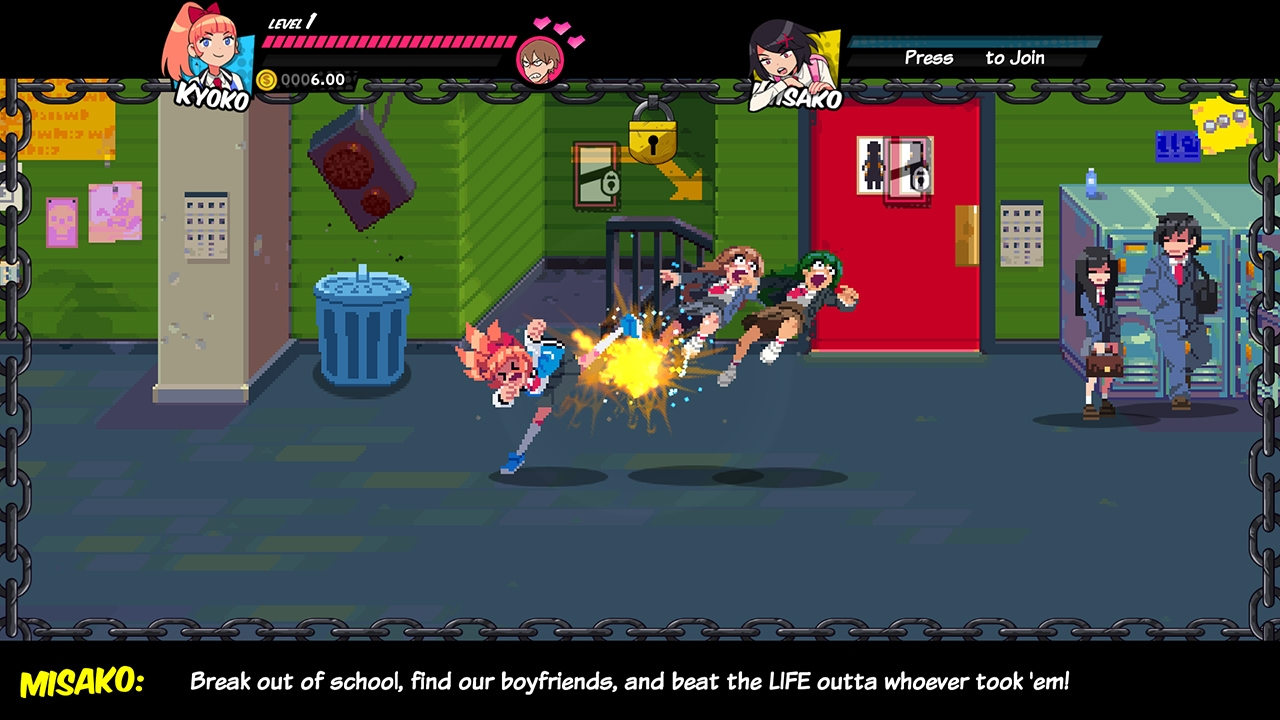 2D, Action, adventure, anime, Arc System Works, arcade, Beat-'Em-Up, Limited Run Games, PS4, PS4 Review, retro, River City Girls, River City Girls Review, WayForward, WayForward Technologies