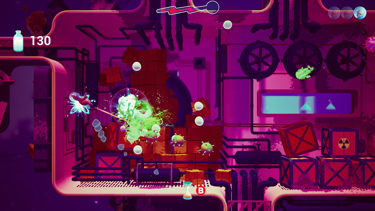 Action, adventure, All In Games, arcade, Happy Corruption, Nintendo Switch Review, Rating 9/10, Shoot 'Em Up, Shooter, Switch Review, top down
