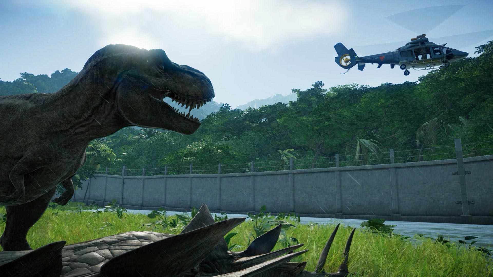Building, Business, Dinosaurs, Frontier Developments, Jurassic World Evolution, Jurassic World Evolution Review, Jurassic World Evolution: Jurassic Park Edition, Jurassic World Evolution: Jurassic Park Edition Review, management, PS4, PS4 Review, Rating 9/10, simulation, strategy, Tycoon