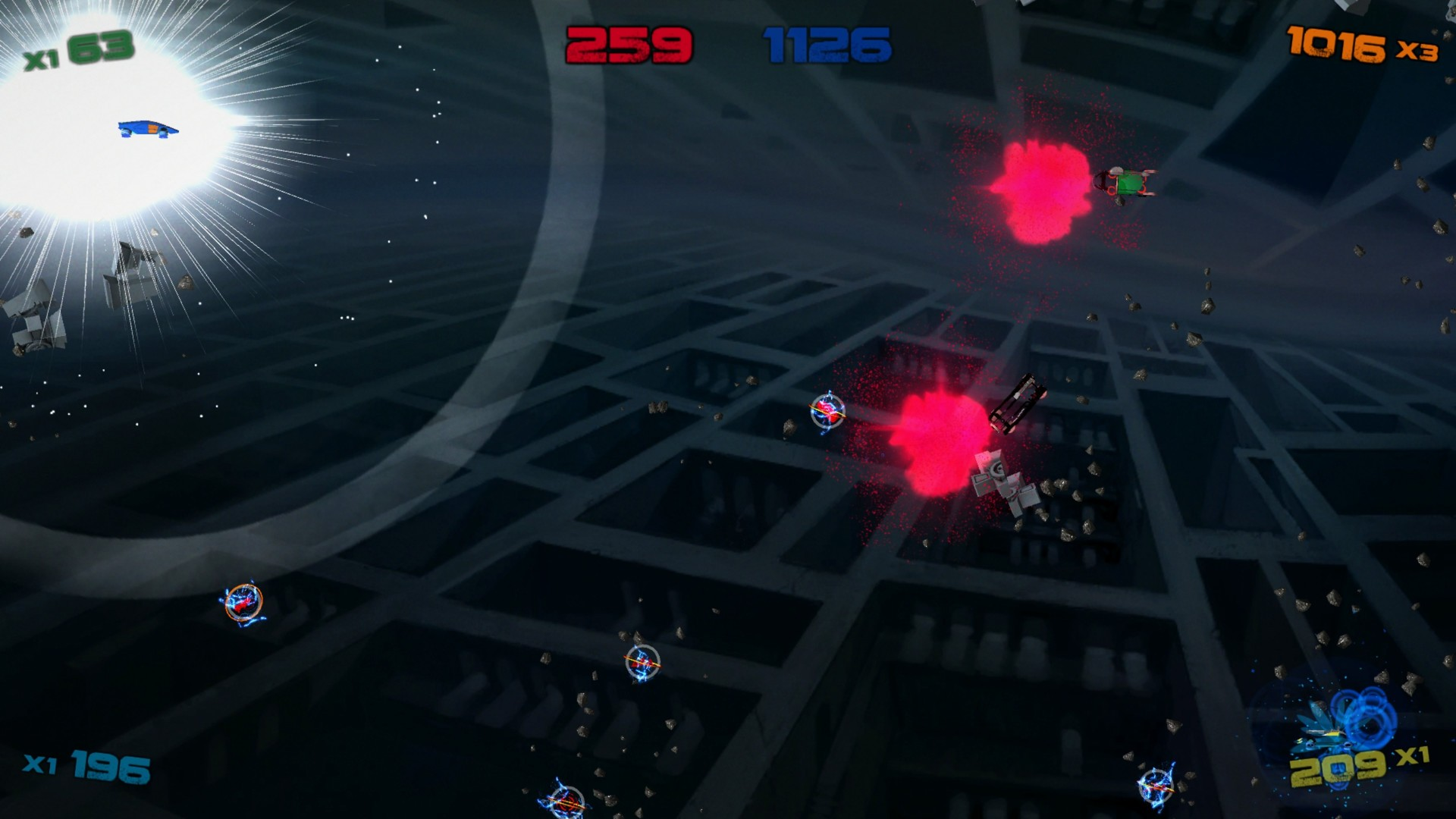 34BigThings, Action, arcade, casual, Digital Tribe, Hyperdrive Massacre, Hyperdrive Massacre Review, indie, local multiplayer, Shoot 'Em Up, Shooter, top down, Xbox One, Xbox One Review