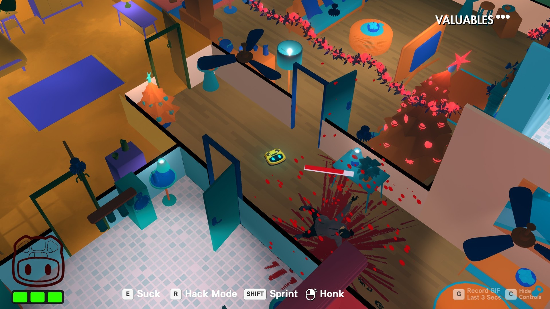 3D, Action, adventure, arcade, Funny, Gore, indie, Nintendo Switch Review, Rating 7/10, Roombo: First Blood, Roombo: First Blood Review, samurai punk, stealth, strategy, Switch Review, third-person, Violent