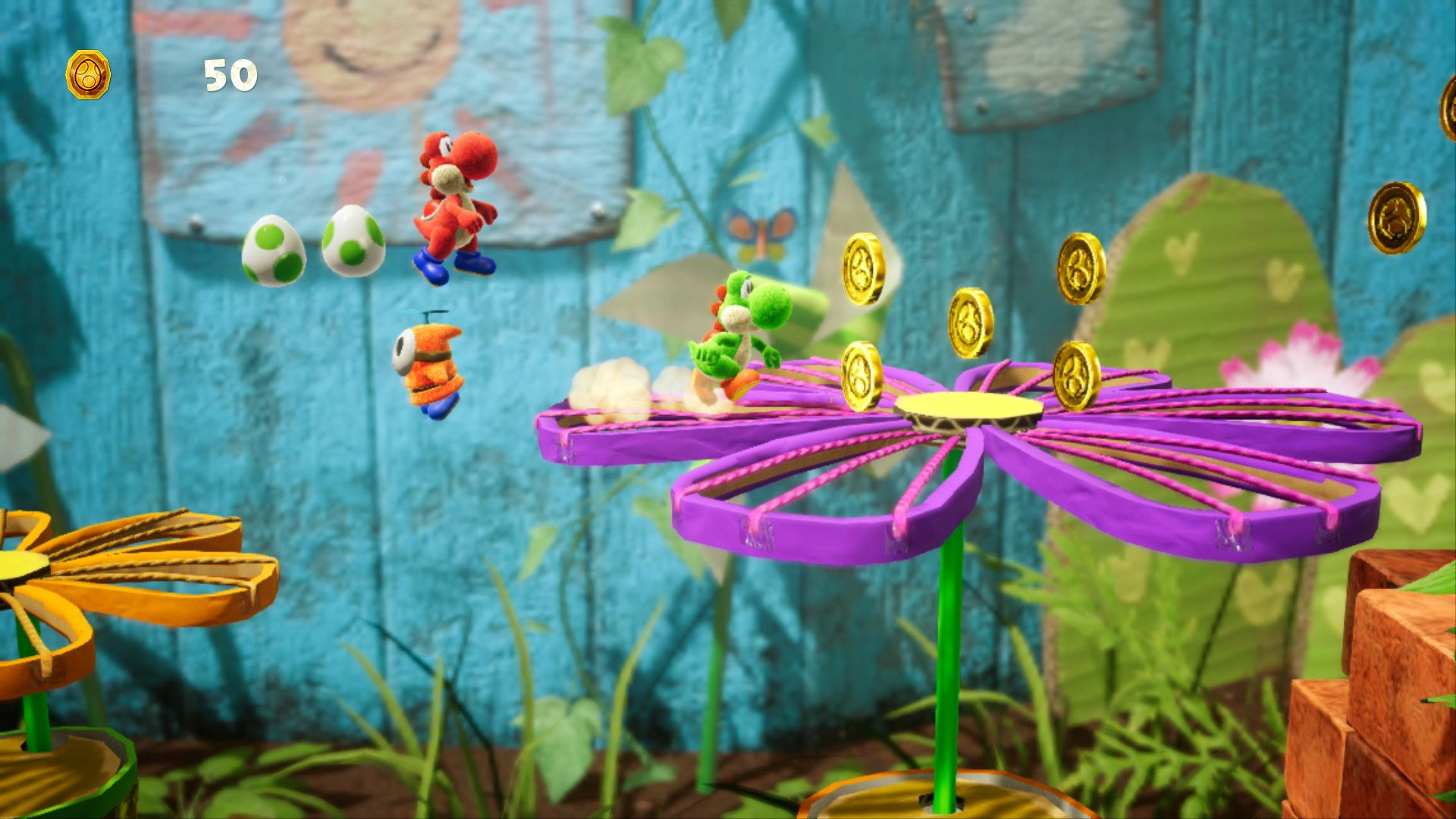 3D, Action, Good Feel, Nintendo, Nintendo Switch Review, Platformer, Rating 8/10, Switch Review, Yoshi's Crafted World, Yoshi's Crafted World Review