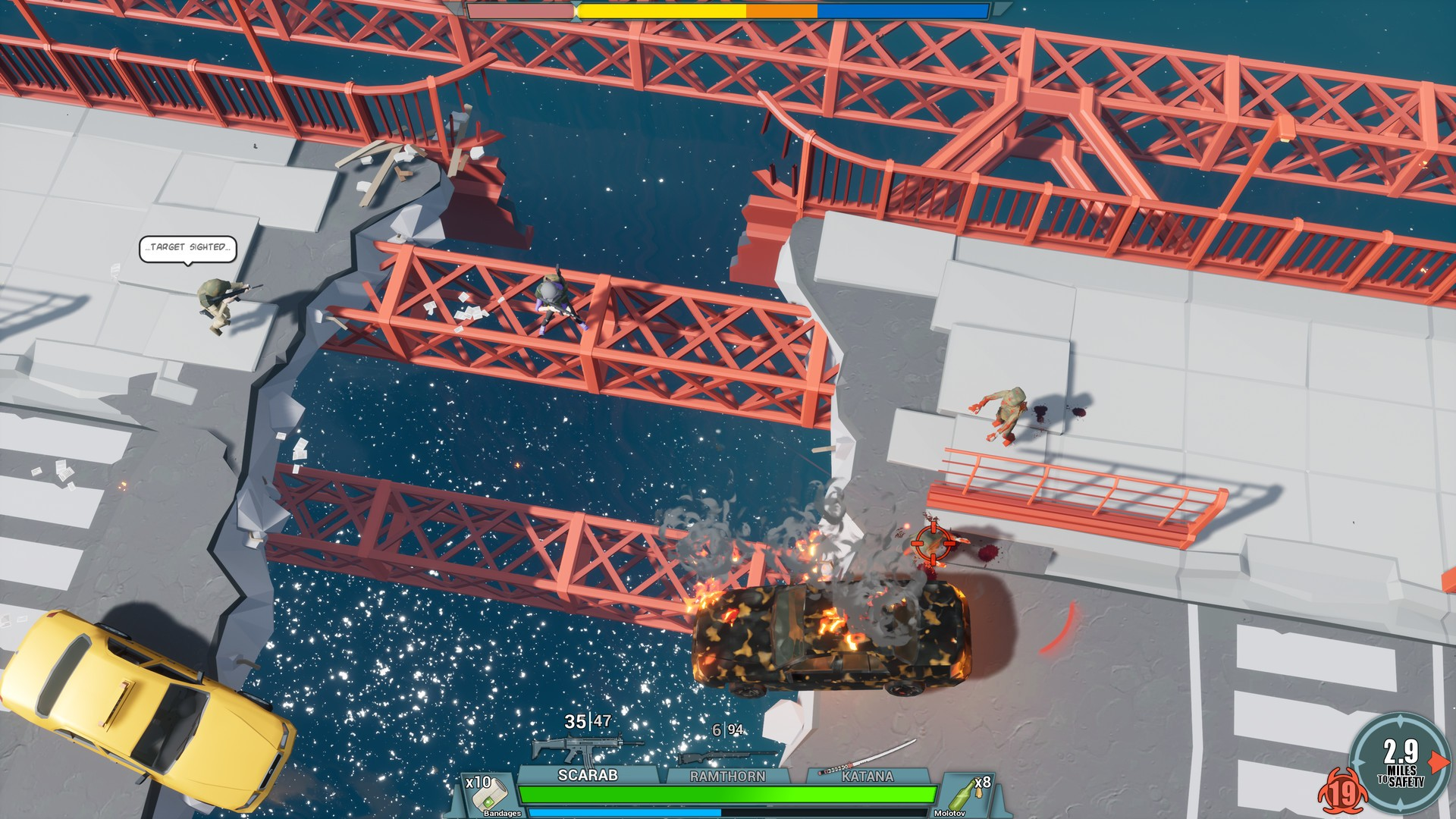 10 Miles To Safety, 10 Miles To Safety Review, Action, Early Access, Gore, indie, PC, PC Review, Roguelike, strategy, Trickjump Games