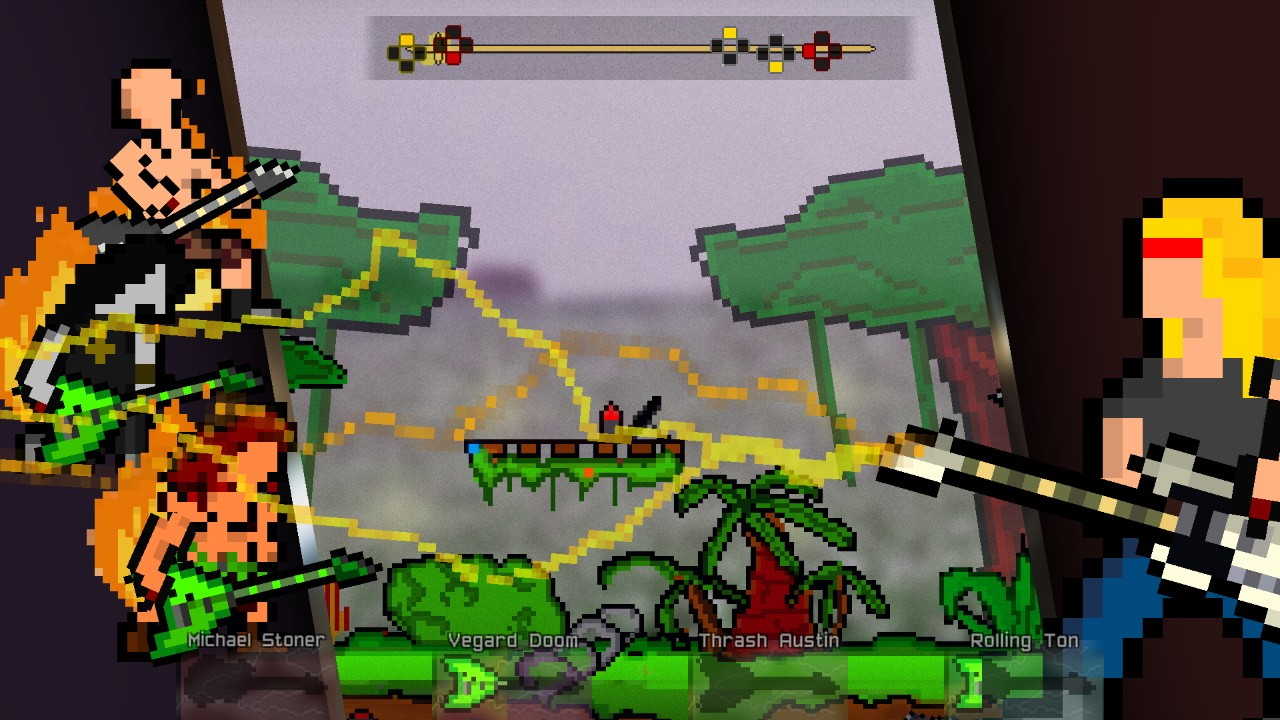 Action, casual, Corvostudio di Amadei Marco, Fighting, indie, It's Raining Fists and Metal, It's Raining Fists and Metal Review, Marco Amadei, multiplayer, Music, Nintendo Switch Review, Platformer, Rhythm, Riccardo Ricci, Switch Review