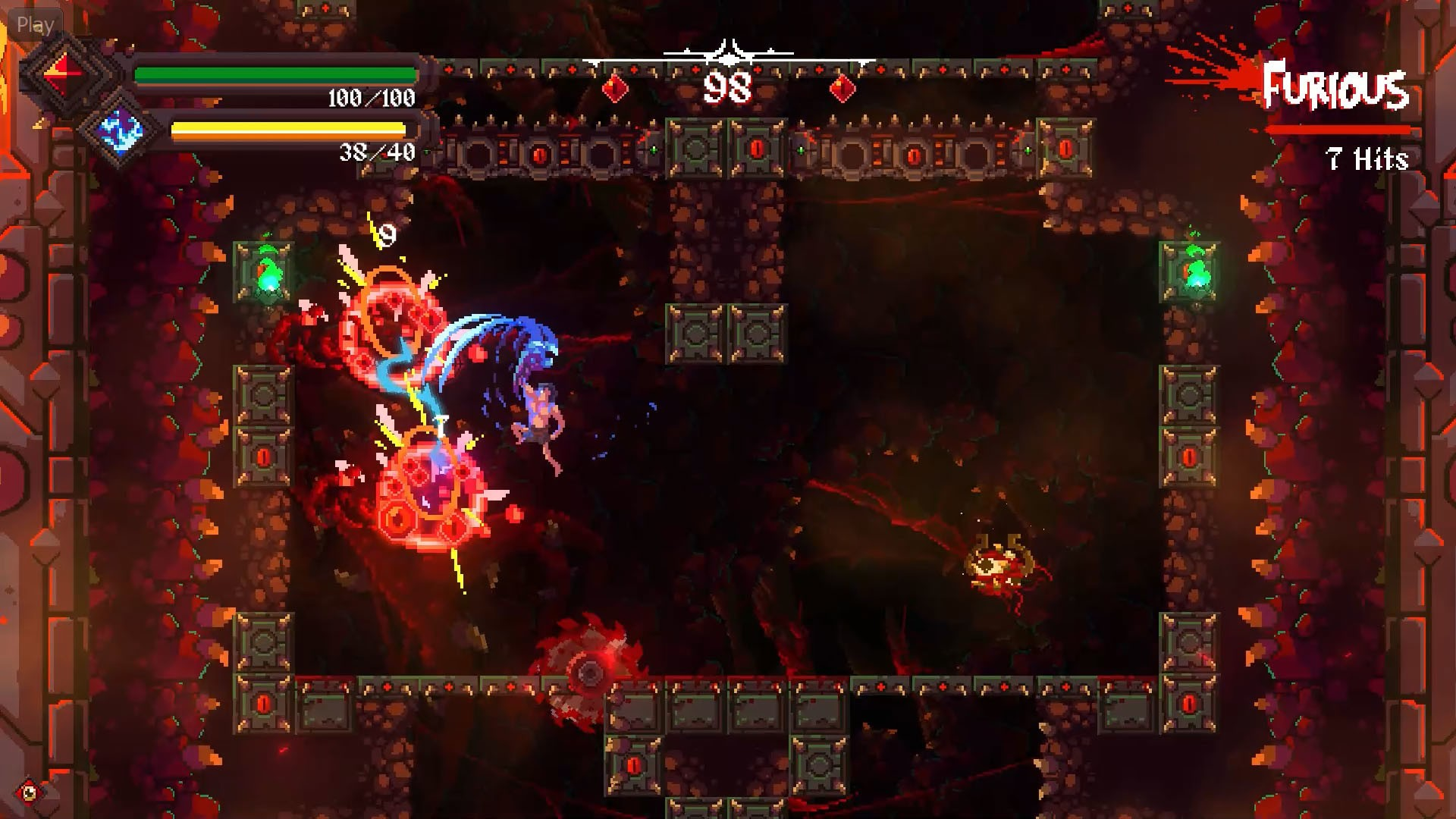 2D, Action, Another Indie, Gore, indie, PC, PC Preview, Platformer, Rising Hell, Rising Hell Review, Roguelike, roguelite, Tahoe Games, Toge Productions