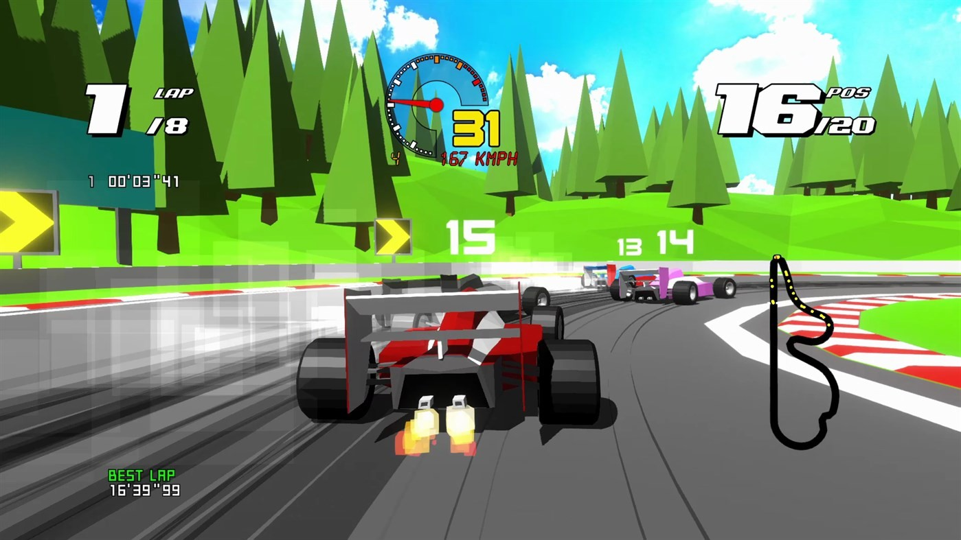 arcade, Fast-Paced, Formula Retro Racing, Formula Retro Racing Review, indie, Racing, Repixel8, retro, Xbox One, Xbox One Review