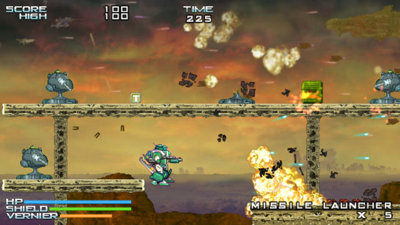 2D, Action, arcade, ASTRO PORT, Gigantic Army, Gigantic Army Review, Henteko Doujin, indie, Mechs, Nintendo Switch Review, Platformer, Rating 5/10, Shooter, Storybird, Switch Review