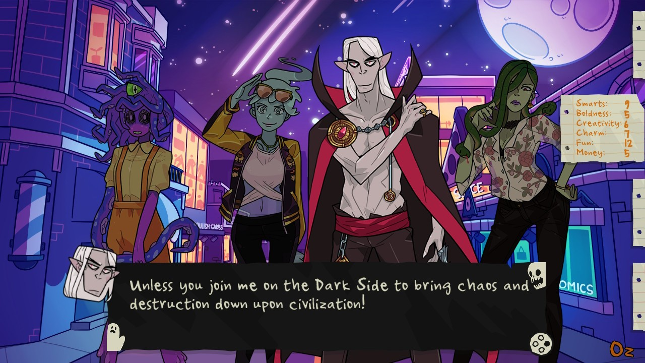 Beautiful Glitch, Monster Prom, Monster Prom: XXL, Monster Prom: XXL Review, multiplayer, Nintendo Switch Review, party, Rating 8/10, Role Playing Game, RPG, simulation, Switch Review, Those Awesome Guys