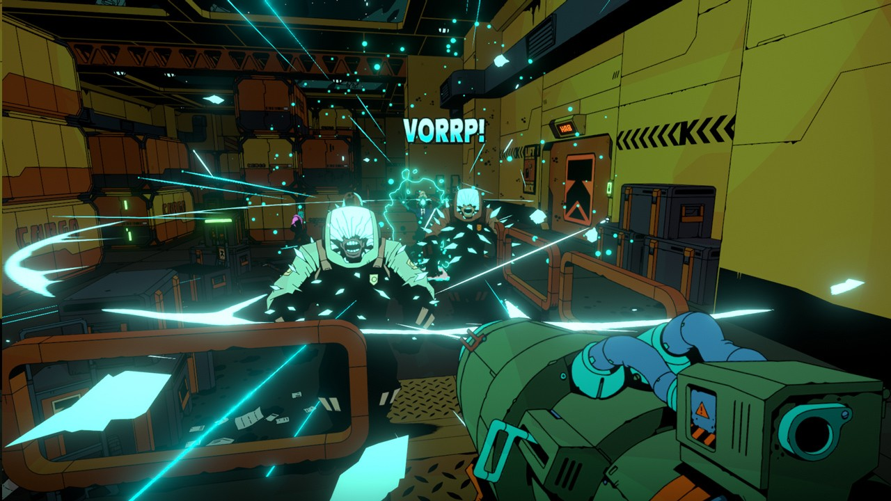 Action, Action Roguelike, arcade, Blue Manchu, First Person Shooter, first-person, FPS, humble bundle, Nintendo Switch Review, Rating 9/10, roguelite, Sci-Fi, Shooter, strategy, Switch Review, Void Bastards, Void Bastards Review
