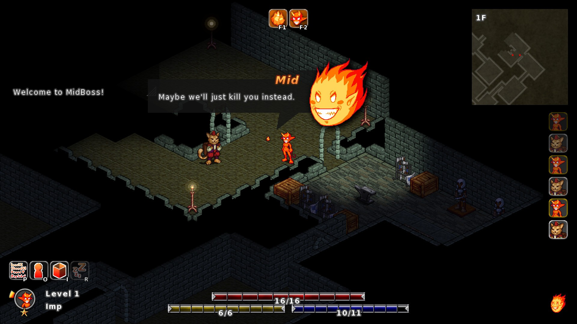 casual, General, indie, Kitsune Games, MidBoss, MidBoss Review, PC, PC Review, Roguelike, Role Playing Game, RPG, strategy, Traditional Roguelike, turn-based