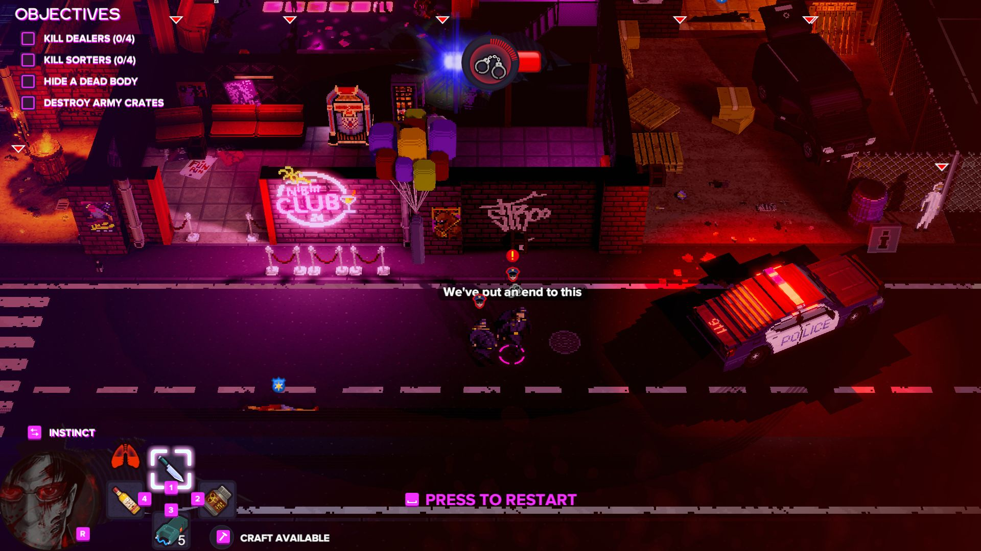 Action, Gore, indie, Nintendo Switch Review, Party Hard, Party Hard 2, Party Hard 2 Review, Pinokl Games, stealth, strategy, Switch Review, tinyBuild Games, Violent